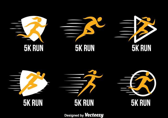 Course de 5 km Vecteurs Collection Logo vecteur