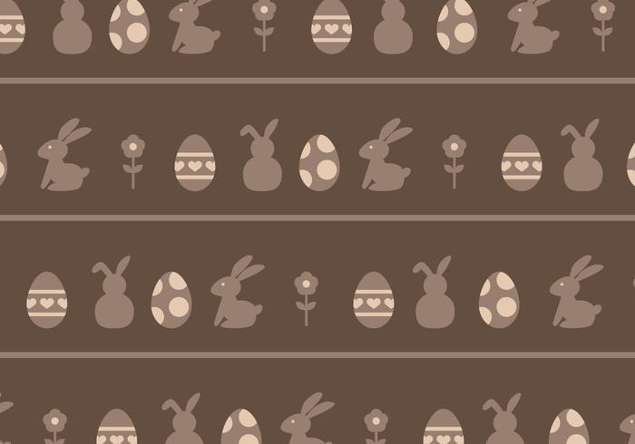 Brown oeufs et lapins modèle vecteur