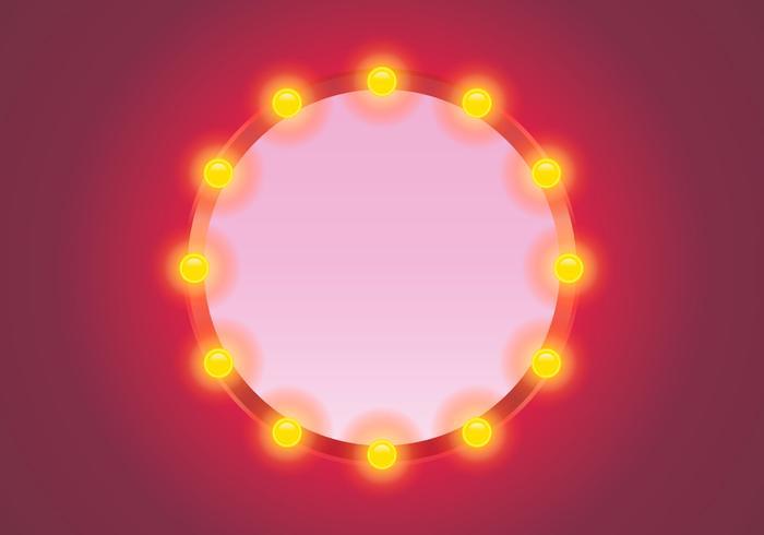 Vector Lighted Mirror avec fond rose