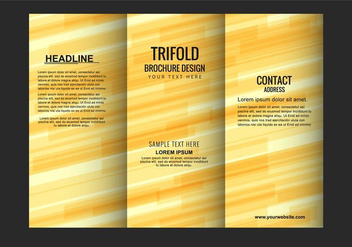 Moderne vecteur libre Trifold Brochure modèle