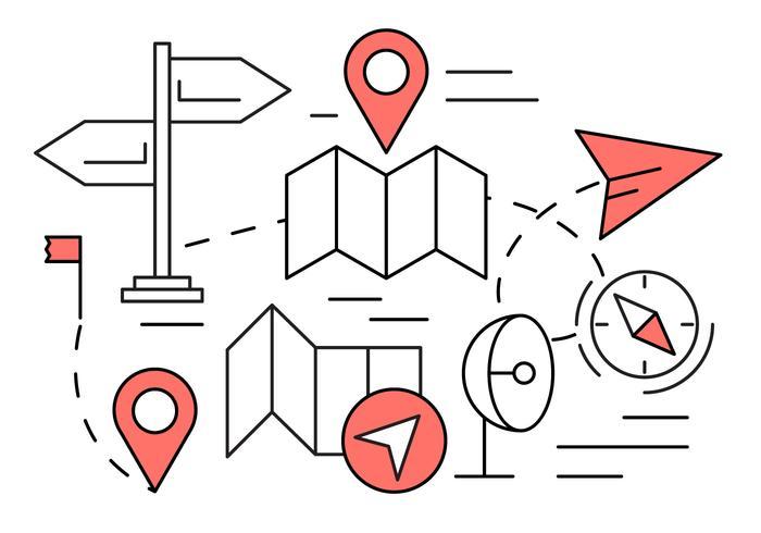 Les icônes de navigation linéaire gratuit vecteur