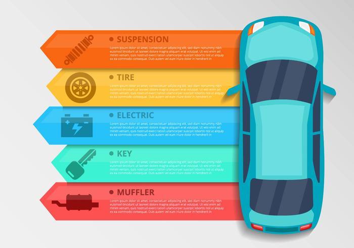 Vecteur libre Element voiture Infographies