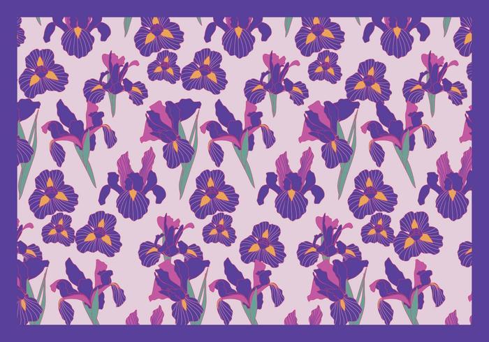 Iris Fleurs vecteur violet