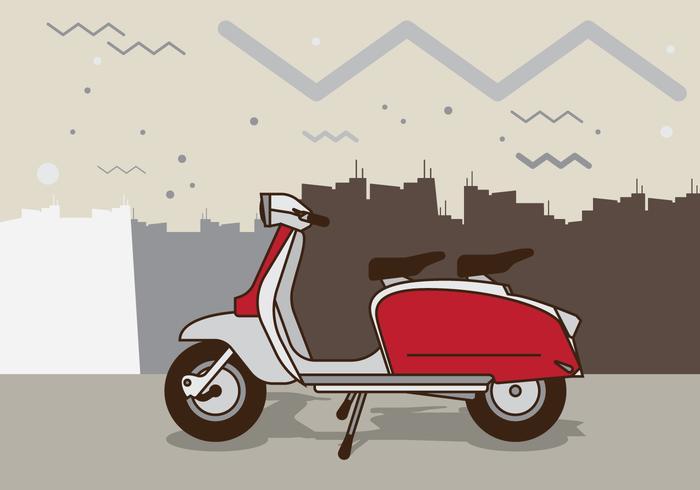 Illustration Scooter Retro vecteur