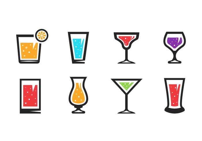 Gratuit Boissons alcoolisées Vector Icons