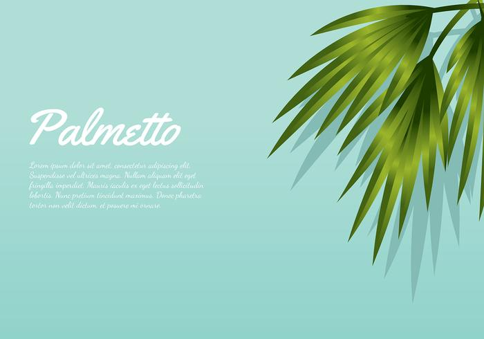 Palmetto Background Aqua vecteur gratuit