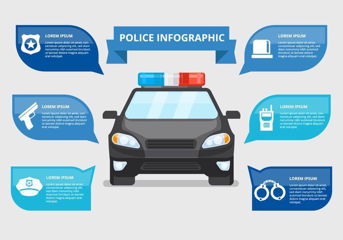 Police libre infographique Vecteur