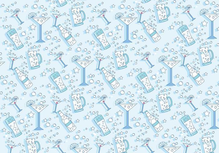 Pop fizz clink pattern vector