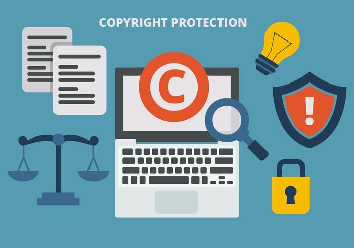Vecteur libre droit d'auteur protection