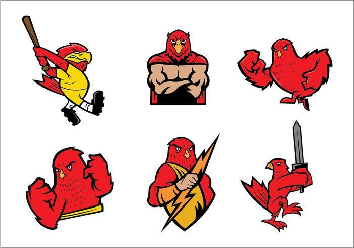 Ensemble de vecteur gratuit Falcons Logo