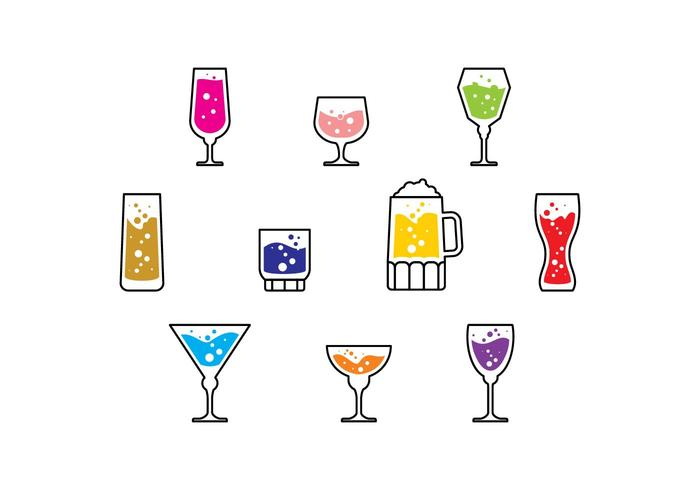 Vecteur icône cocktail gratuit