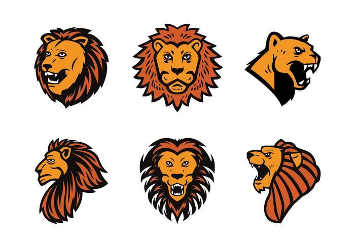 Vecteur libre Lion Mascot