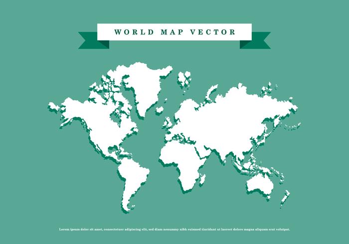 Vecteur Carte du monde