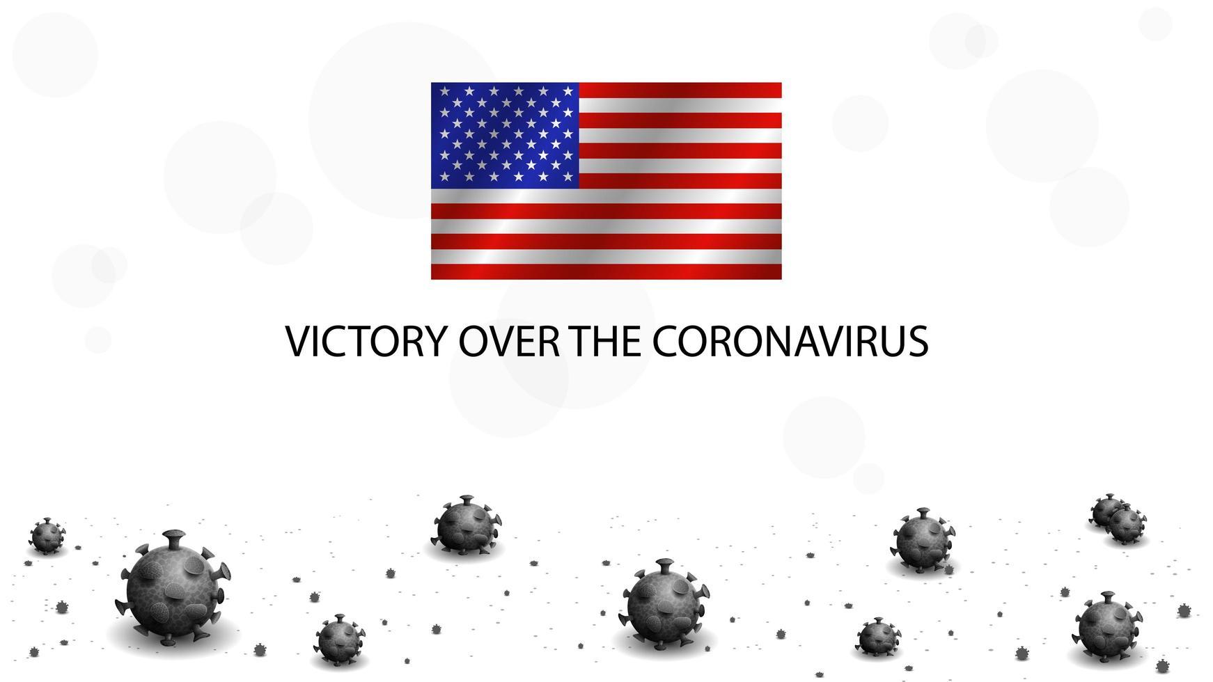 virus coronavirus morts et drapeau des États-Unis. vecteur