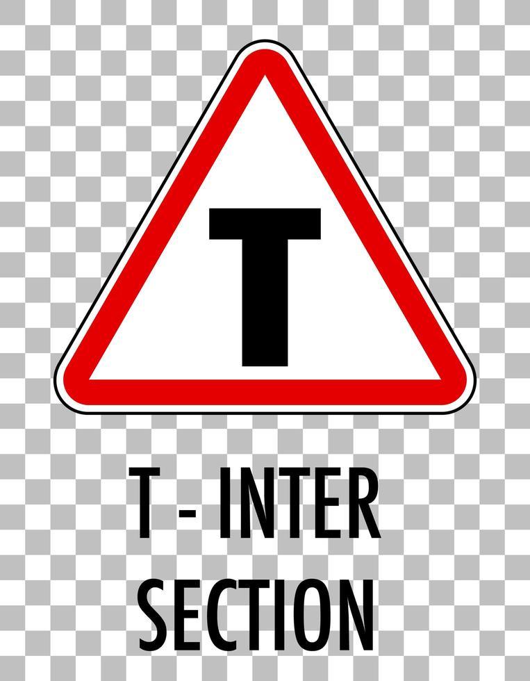 panneau de signalisation rouge sur fond transparent vecteur