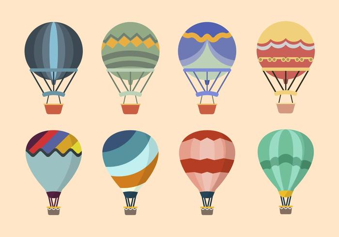 Vecteurs à ballon à air plat vecteur