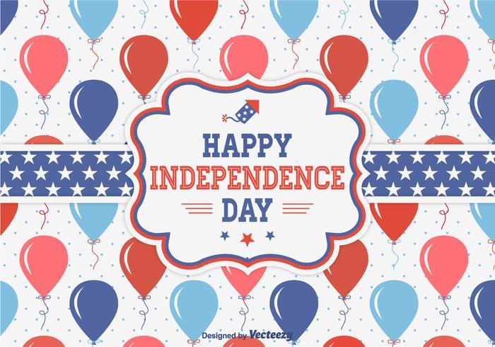 Bonne fête de la Fête de l'Indépendance vecteur