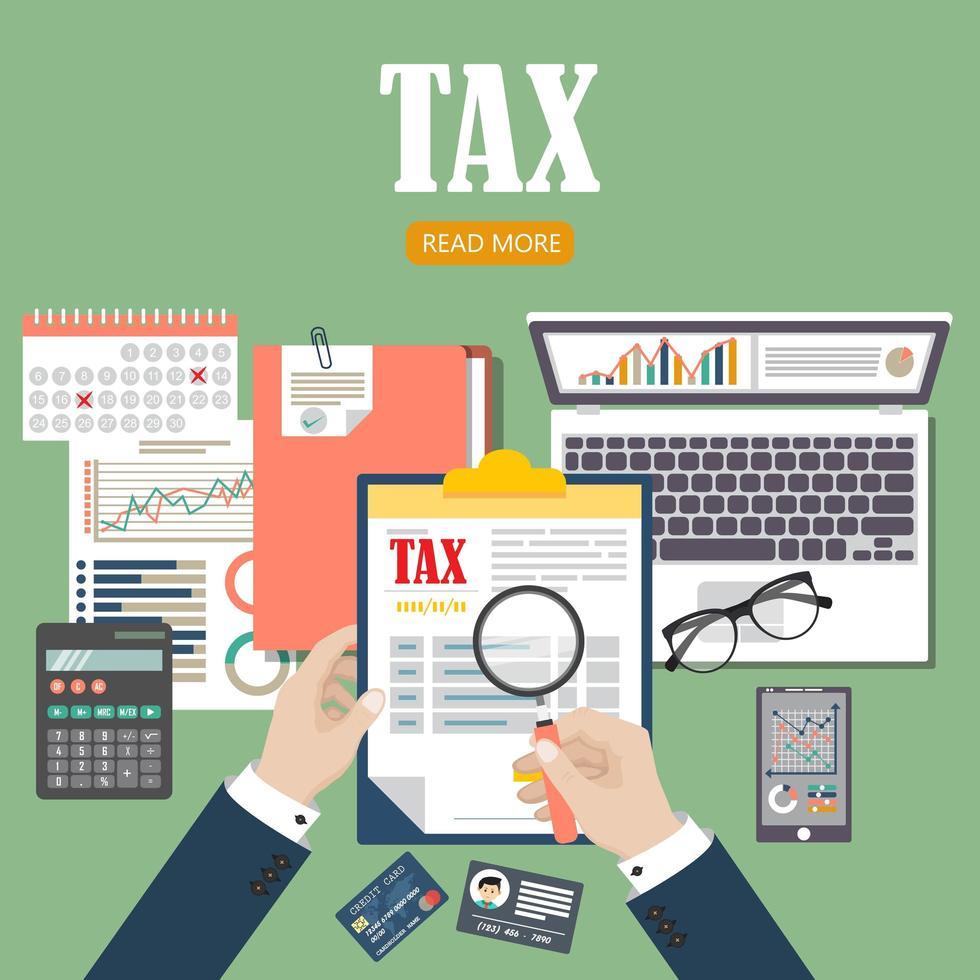 vérification du processus fiscal vecteur