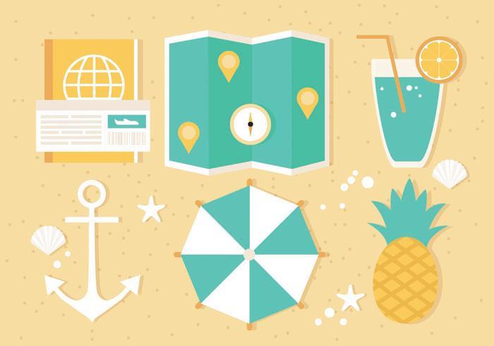Illustration vectorielle gratuite de voyage d'été vecteur