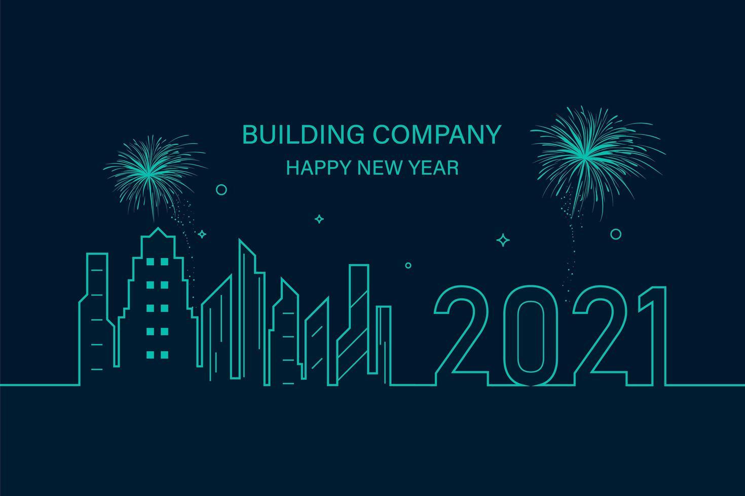 bonne et heureuse année 2021 vecteur