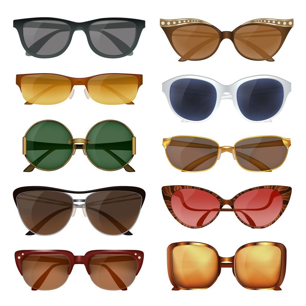 ensemble de lunettes de soleil d'été vecteur