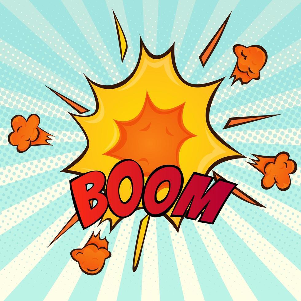 icône de dessin animé comique rétro explosion vecteur