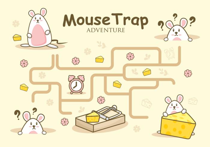 Mouse Trap Adventure Illustration vecteur