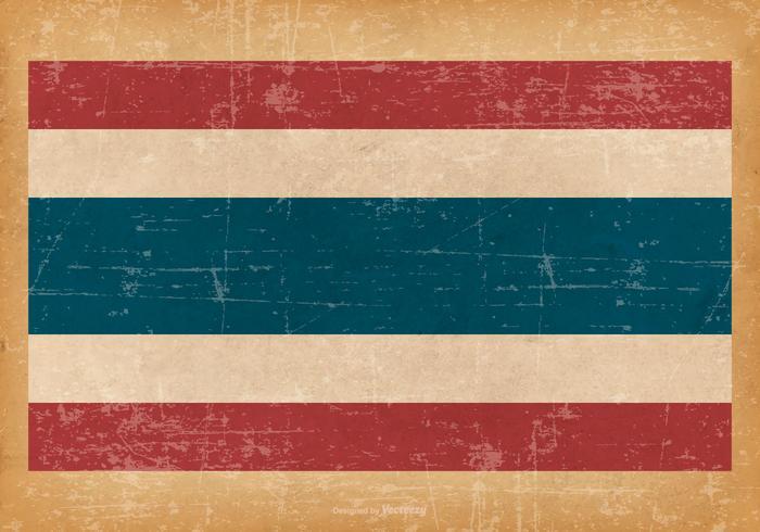 Drapeau grunge de la Thaïlande vecteur