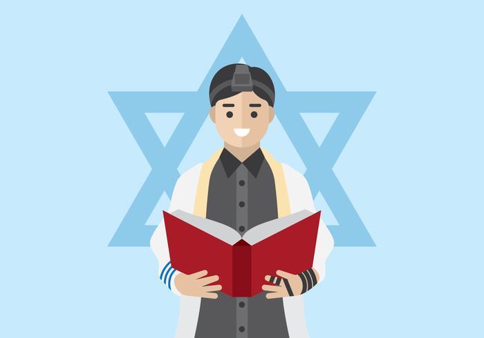 L'homme juif priant vecteur