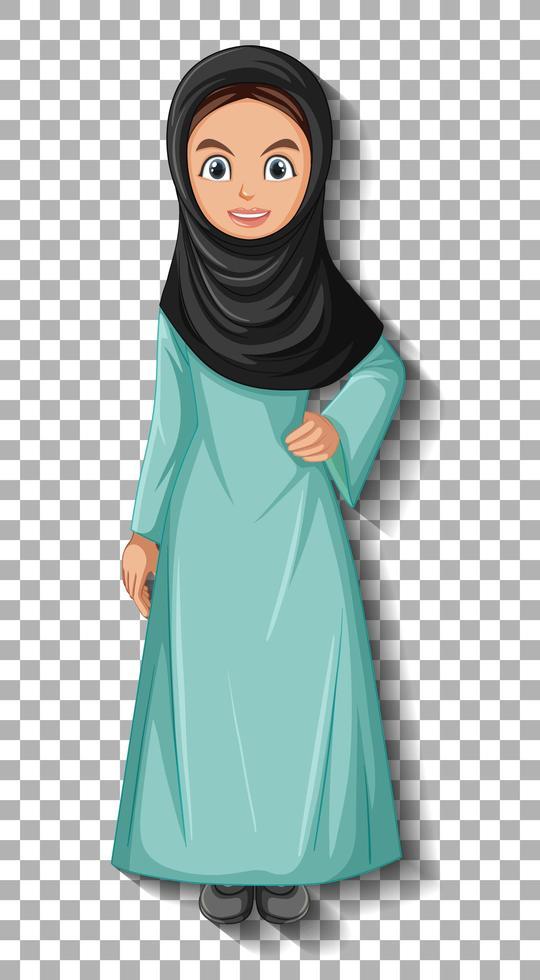 beau personnage de dessin animé de dame arabe vecteur
