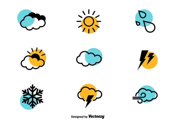 Icônes météorologiques - Ensemble vectoriel