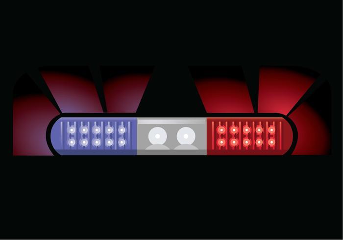 Police light vector illustration