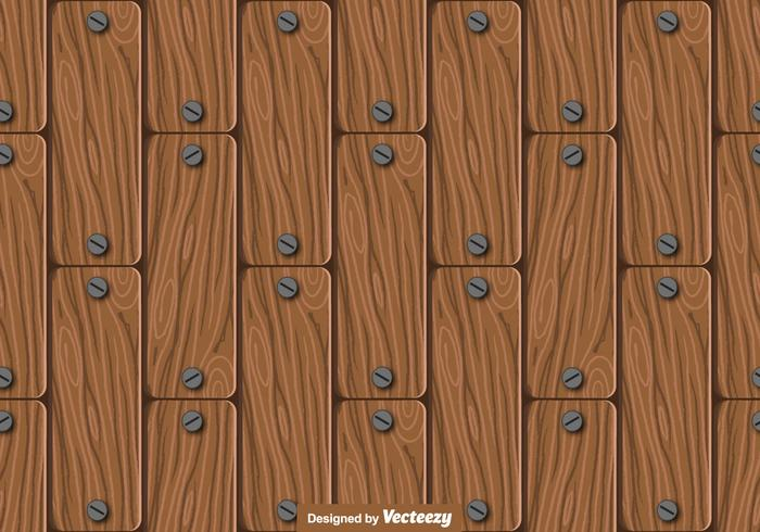 Seamless Wood Planks Pattern - Vector