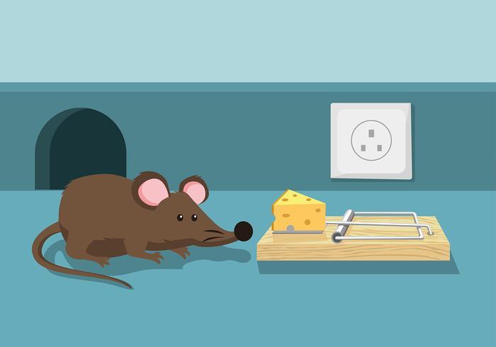 Vecteur libre de piège souris