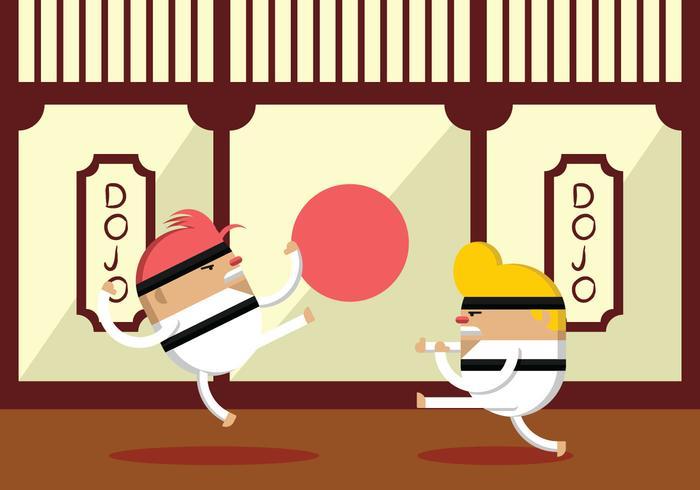 Karate Fighter Practice vecteur