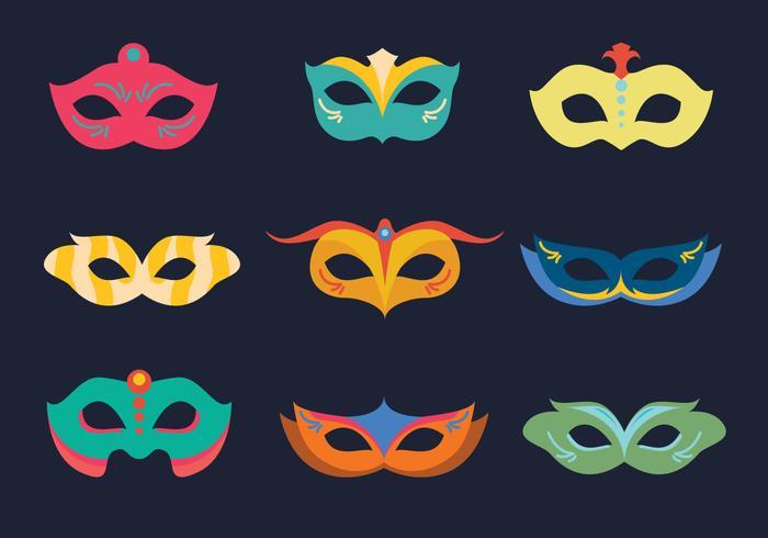 Masque coloré de carnaval vecteur
