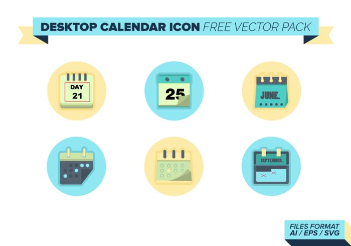 Icône de calendrier de bureau Pack Vector gratuit