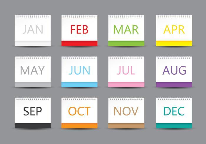 Modèle de calendrier de bureau vecteur