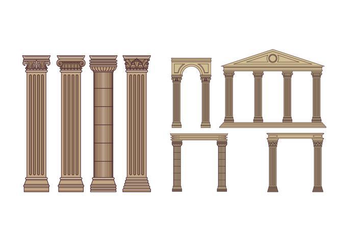 Pack Vector Free Pillars Romantique