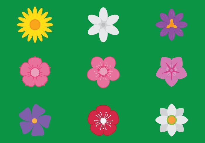 Icônes de fleurs vecteur