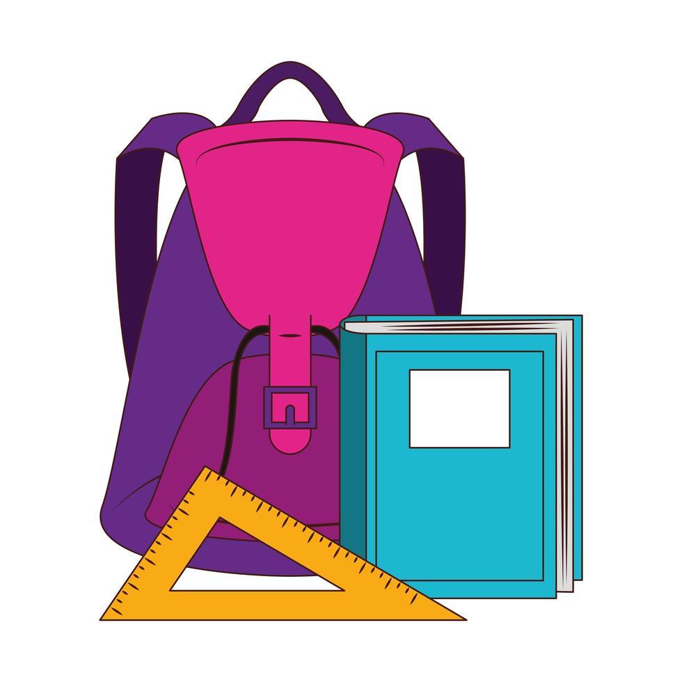 dessin animé retour à la composition de l'éducation scolaire vecteur