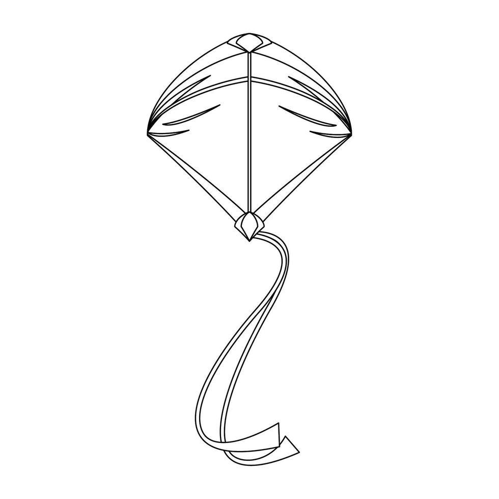 Cerf Volant Volant Symbole De Dessin Anime Isole En Noir Et Blanc Telecharger Vectoriel Gratuit Clipart Graphique Vecteur Dessins Et Pictogramme Gratuit