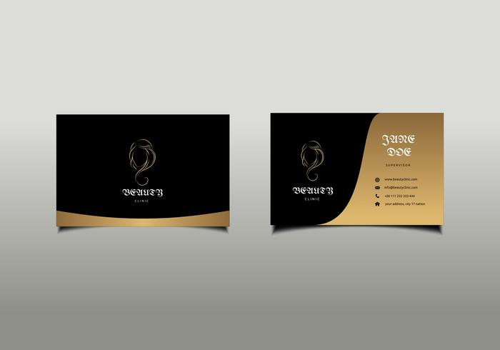 Beauty Clinic Business Card Mockup Free Vector