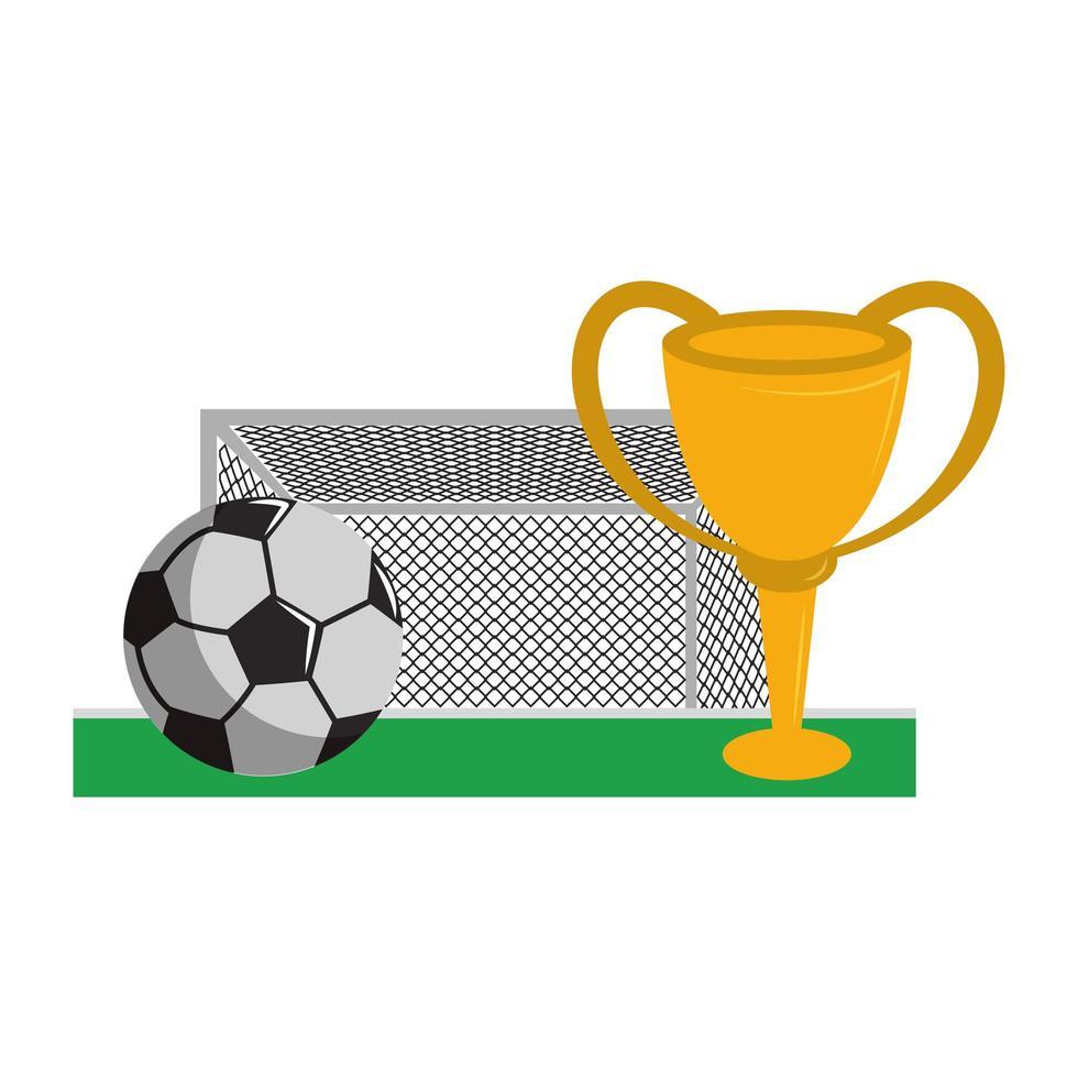 dessin animé de jeu de sport de football vecteur