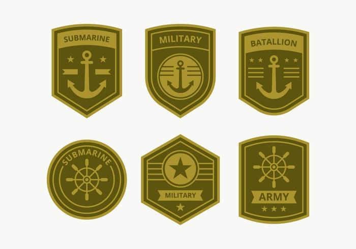 Collection de badge du Corps de la Marine vecteur