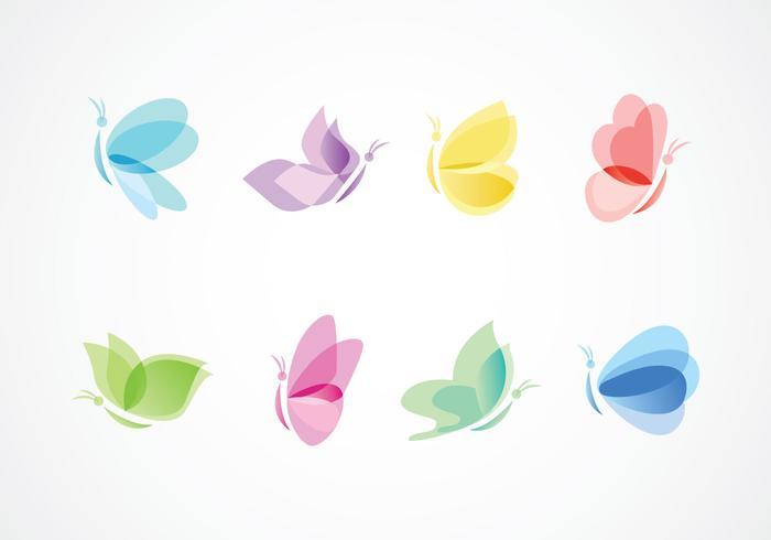 Mariposa icônes logo vecteur