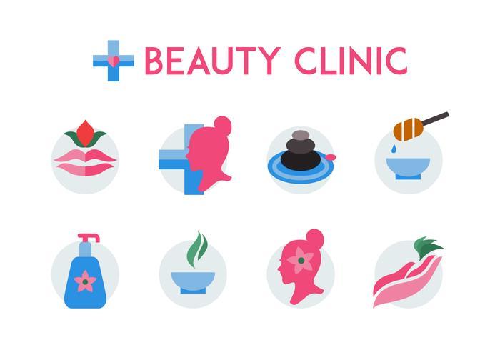 Icône de clinique de beauté gratuite vecteur
