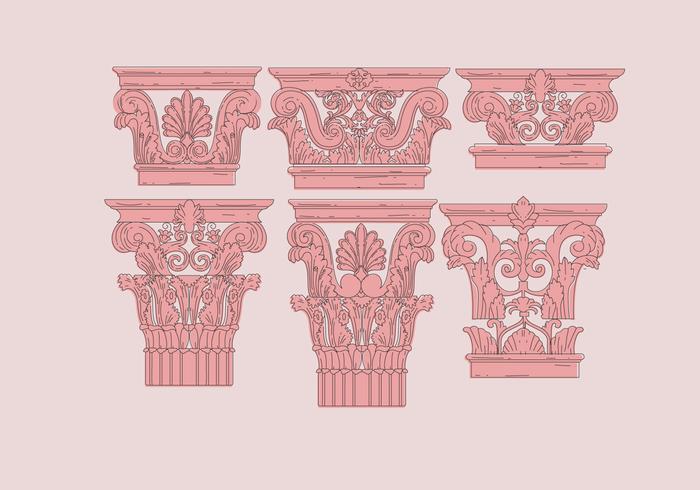 Vecteurs de couleur rose corinthiens vecteur