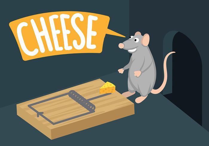 Vecteur d'illustration piège à souris
