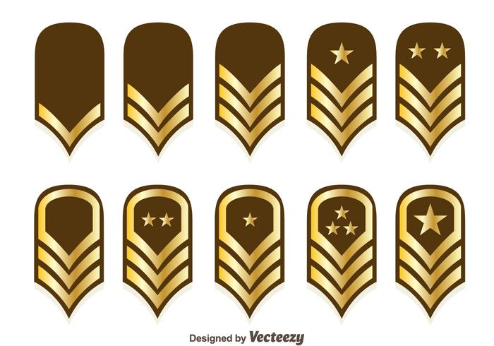 Vecteurs d'emblème de rang de corps de la marine vecteur